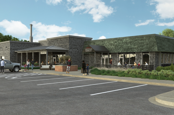Rendering of the outer facade of Jack Stack Barbecue in Martin City. Coming Spring 2020.